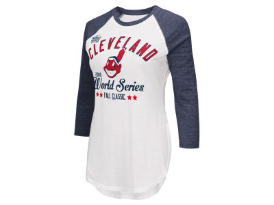Cleveland Indians MLB Women's 2016 World Series Participant Raglan T-Shirt