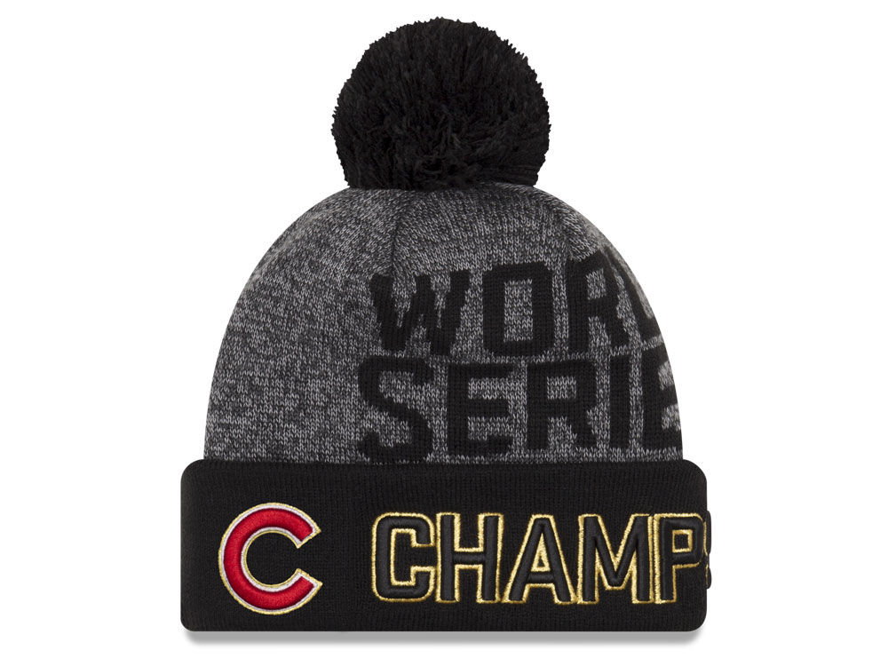 Chicago Cubs New Era MLB 2016 World Series Locker Room Knit Cap ... f00b2d7026e
