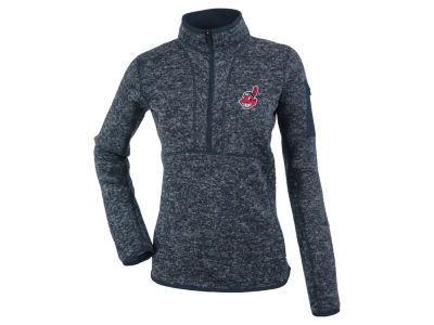 Cleveland Indians Antigua MLB Women's Fortune 1/2 Zip Pullover