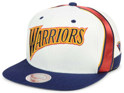Golden State Warriors Mitchell and Ness NBA Jersey Hook Snapback Cap