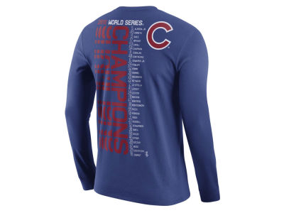 Chicago Cubs Nike MLB Men's 2016 World Series Champs Celebration Roster Long Sleeve T-Shirt