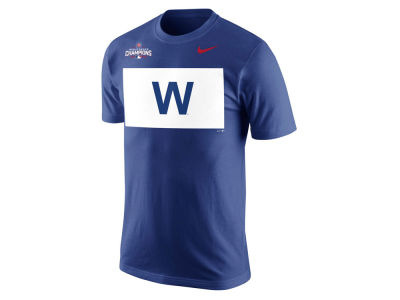 Chicago Cubs Nike MLB Men's 2016 World Series Champs W Flag T-Shirt