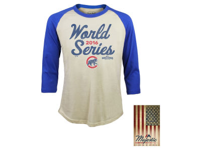 Chicago Cubs MLB Men's World Series Softhand Raglan Shirt