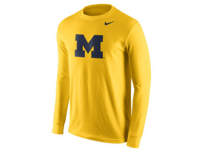 Michigan Wolverines Nike NCAA Men's Cotton Logo Long Sleeve T-Shirt