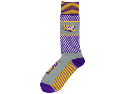 LSU Tigers For Bare Feet Mojo 505 Socks