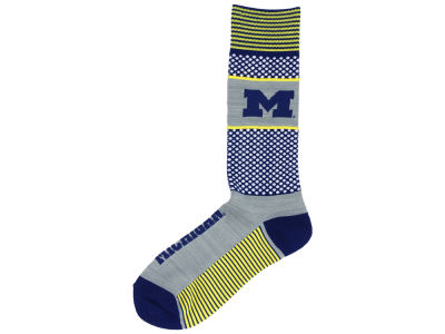 Michigan Wolverines For Bare Feet Mojo 505 Socks
