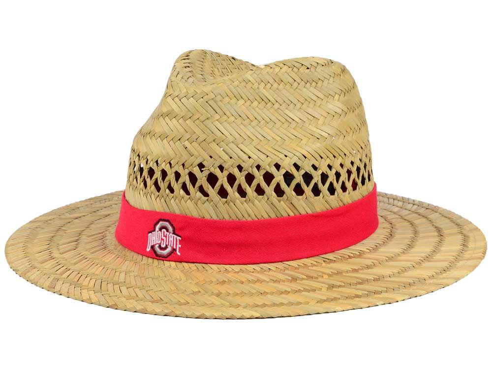 61a6a207532 Ohio State Buckeyes J America NCAA Sun Shade Straw Hat