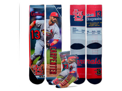 St. Louis Cardinals For Bare Feet Youth MLB Trading Card Socks