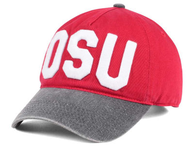 Ohio State Buckeyes J America NCAA Pigment Dyed Canvas Adjustable Cap