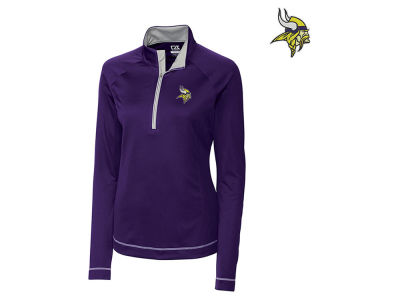Minnesota Vikings Cutter & Buck NFL Women's Evolve Half Zip Pullover