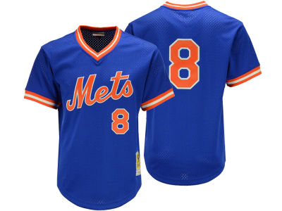 New York Mets Gary Carter Mitchell & Ness MLB Men's Authentic Mesh Batting Practice V-Neck Jersey