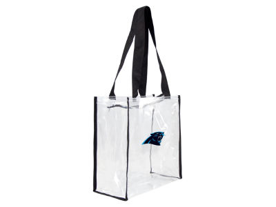 Carolina Panthers Clear Square Zip Tote