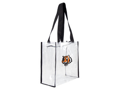 Cincinnati Bengals Clear Square Zip Tote