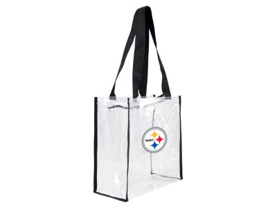 Pittsburgh Steelers Clear Square Zip Tote
