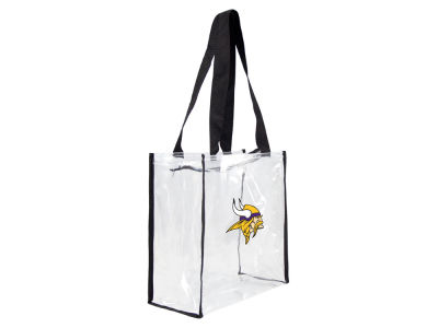Minnesota Vikings Clear Square Zip Tote