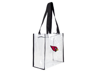 Arizona Cardinals Clear Square Zip Tote