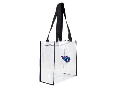 Tennessee Titans Clear Square Zip Tote