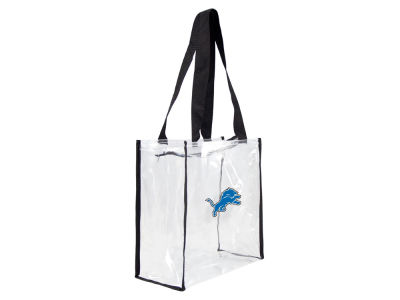 Detroit Lions Little Earth Clear Square Zip Tote