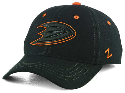 Anaheim Ducks Zephyr NHL Black Element Stretch Cap