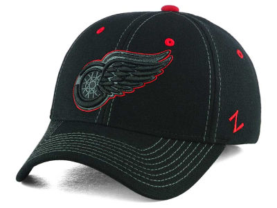Detroit Red Wings Zephyr NHL Black Element Stretch Cap