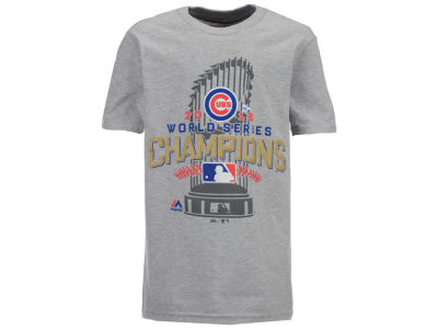 Chicago Cubs Majestic MLB Youth 2016 World Series Champ Locker Room T-Shirt