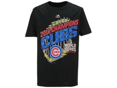 Chicago Cubs Majestic MLB Youth 2016 World Series Parade T-Shirt