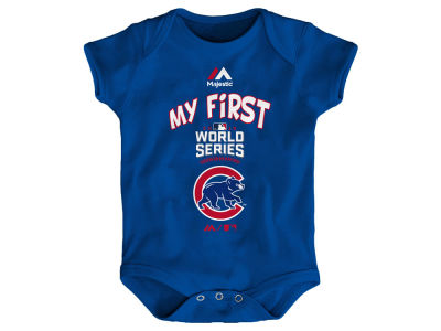 Chicago Cubs Majestic MLB Newborn My 1st World Series Creeper