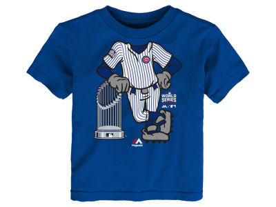 Chicago Cubs Majestic MLB Toddler 2016 World Series Catcher T-Shirt