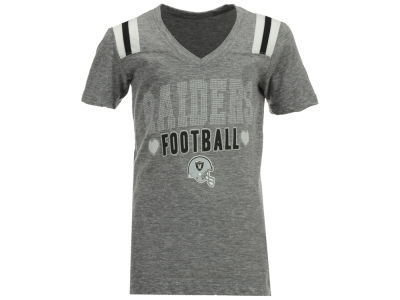 Oakland Raiders NFL Youth Girls Heart Football T-Shirt
