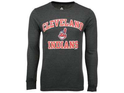 Cleveland Indians MLB Men's Official Wordmark Long Sleeve T-Shirt
