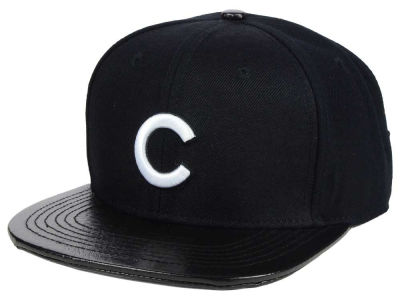 Chicago Cubs Pro Standard MLB Black and White Strapback Cap