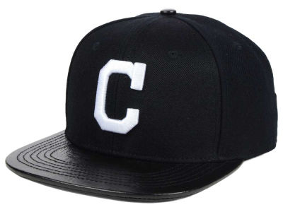 Cleveland Indians Pro Standard MLB Black and White Strapback Cap