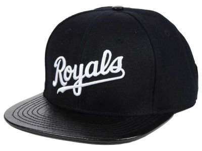 Kansas City Royals Pro Standard MLB Black and White Strapback Cap