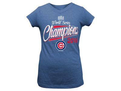 Chicago Cubs 5th & Ocean MLB Youth Girls 2016 World Series T-Shirt