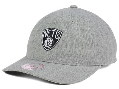 Brooklyn Nets Mitchell and Ness NBA Heather Grey Dad Hat