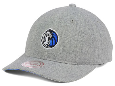 Dallas Mavericks Mitchell and Ness NBA Heather Grey Dad Hat