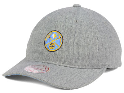 Denver Nuggets Mitchell and Ness NBA Heather Grey Dad Hat