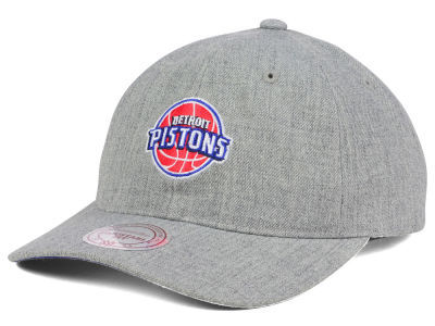 Detroit Pistons Mitchell and Ness NBA Heather Grey Dad Hat