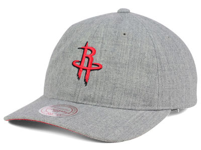 Houston Rockets Mitchell and Ness NBA Heather Grey Dad Hat