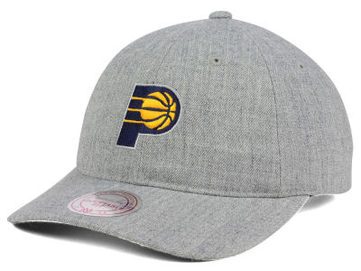Indiana Pacers Mitchell & Ness NBA Heather Grey Dad Hat