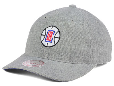 Los Angeles Clippers Mitchell and Ness NBA Heather Grey Dad Hat