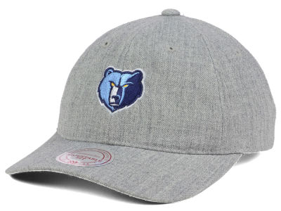 Memphis Grizzlies Mitchell and Ness NBA Heather Grey Dad Hat