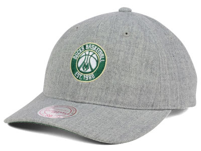 Milwaukee Bucks Mitchell & Ness NBA Heather Grey Dad Hat