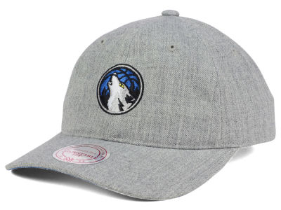 Minnesota Timberwolves Mitchell and Ness NBA Heather Grey Dad Hat