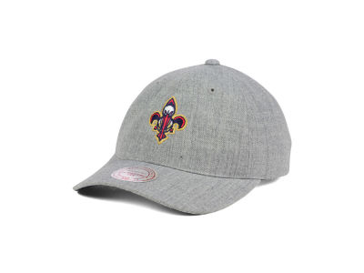 New Orleans Pelicans Mitchell and Ness NBA Heather Grey Dad Hat