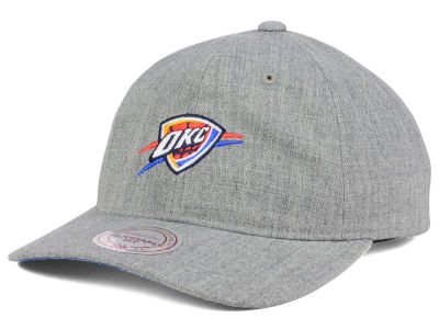 Oklahoma City Thunder Mitchell and Ness NBA Heather Grey Dad Hat