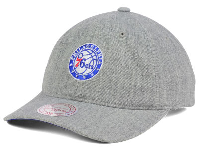 Philadelphia 76ers Mitchell & Ness NBA Heather Grey Dad Hat