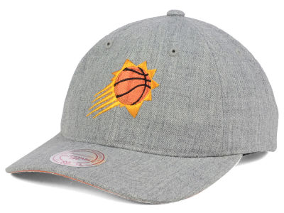 Phoenix Suns Mitchell & Ness NBA Heather Grey Dad Hat