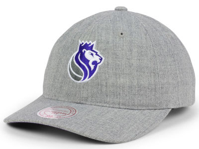 Sacramento Kings Mitchell and Ness NBA Heather Grey Dad Hat
