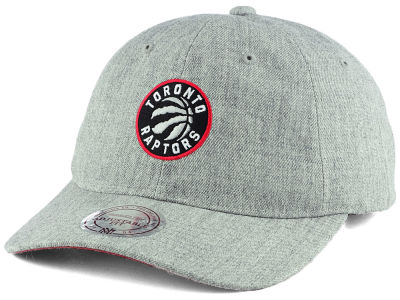 Toronto Raptors Mitchell and Ness NBA Heather Grey Dad Hat